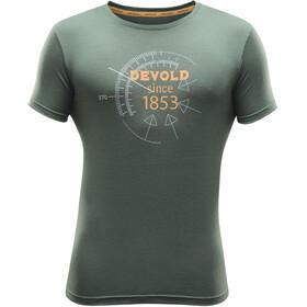 Devold Compass Miehet Lyhythihainen paita , vihreä